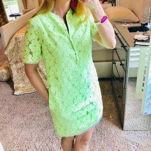 Diane Von Furstenberg Neon Lace Summer Dress